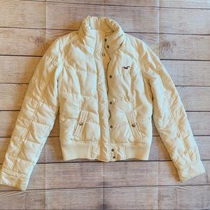Hollister Puffer Down Feather Jacket Coat